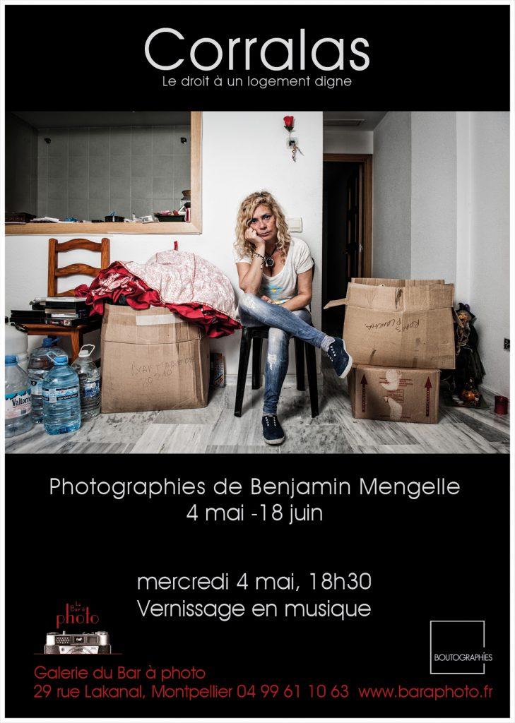Corralas : Exposition du 4 mai 2016 au 18 juin 2016 du lundi au vendredi de 14h à 18h dans le cadre des Boutographies. Photographies de Benjamin Mengelle à la Galerie du Bar à Photo - Montpellier.