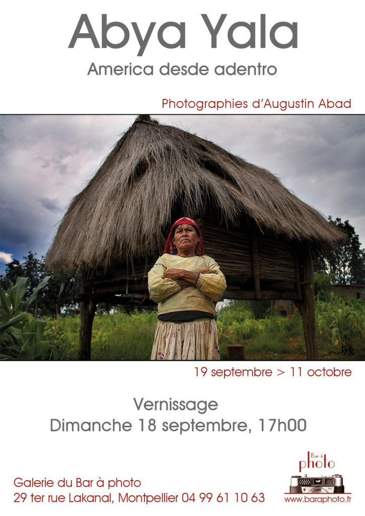 Exposition du 19 septembre 2016 au 11 octobre 2016 du lundi au vendredi de 14h à 18h. Photographies de Augustin Abad. Galerie du Bar à Photo - Montpellier.