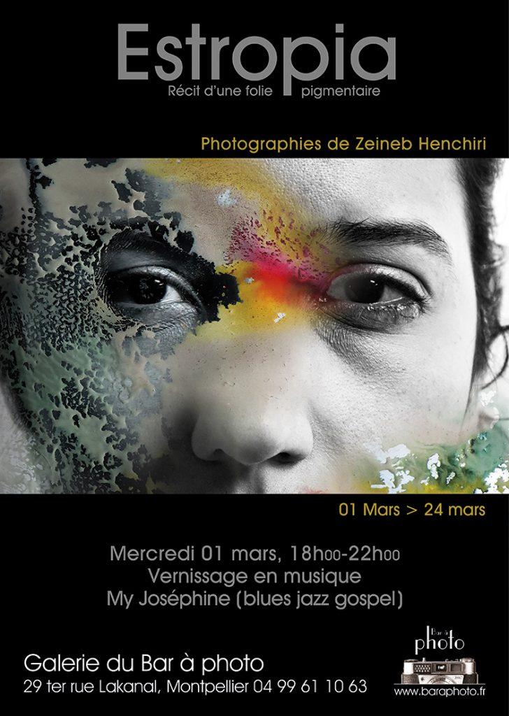 Exposition Estropia, récit d'une folie pigmentaire : Zeineb Henrichi à la Galerie du bar à Photo - Montpellier